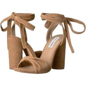 Steve Madden Clary Camel suede heels